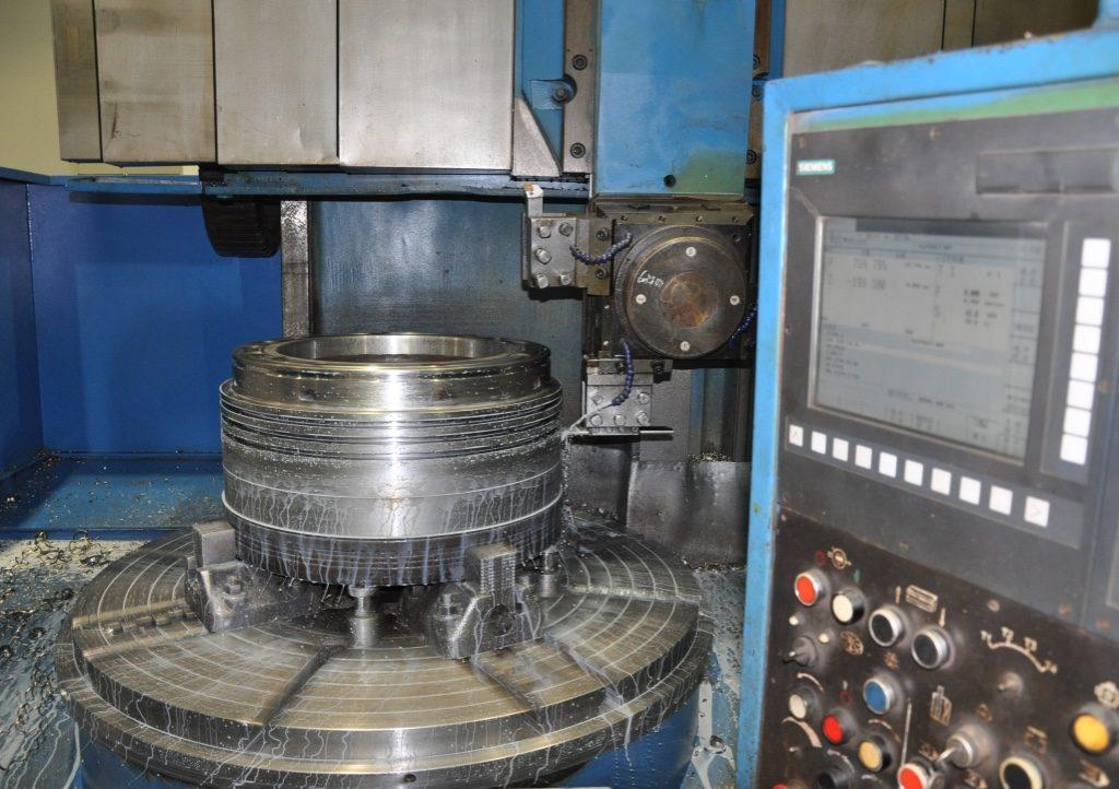 CNC machine piston crown