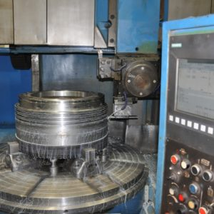 CNC machine piston crown